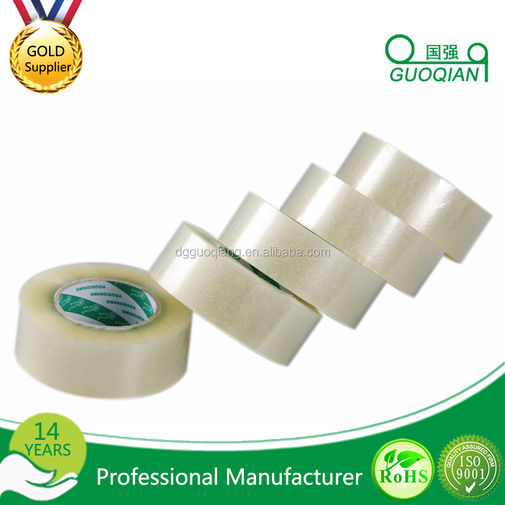High quality clear Hot Melt Adhesive jumbo roll packing bopp tape