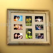 Eight Pictures Used For family Photo Frames with wood frame