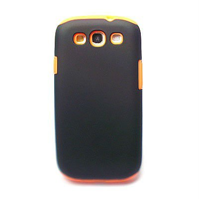 2 in 1 Rubber Hard & Silicone Case For Samsung Galaxy S3 i9300 , PC & Silicon combo desig