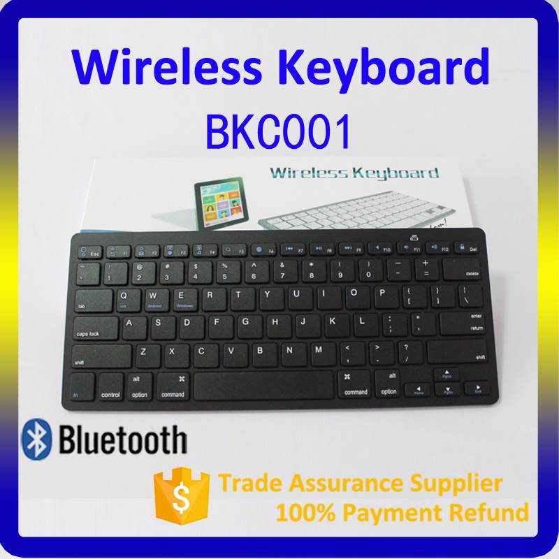 White Slim Wireless Mini Bluetooth Keyboard For Apple Windows iPad Laptop PC