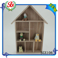 SGX106 Mini Solid Wooden House Toy furniture for Cartoon Toy
