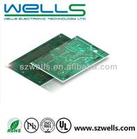 4 layer PCB, Lead free HAL, Green solder resist, White legend,ROHS/UL certificate, IPC-6012 class 2 standard