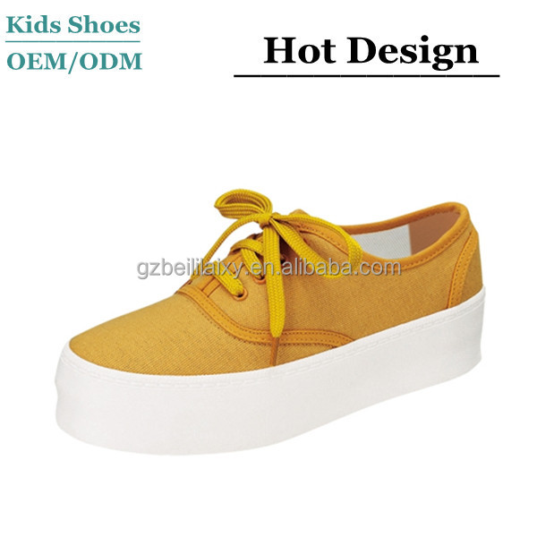 Japanese style thick rubber sole canvas shoes ladies lace-up casual shoes ladies rubber soles flat shoes