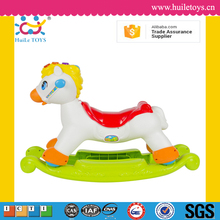 Huile toys cartoon plastic wholesale toy horse on wheels with EN71