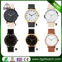 Famous fashion Genuine Leather Japaneze Quartz Movement simple the men horse watch