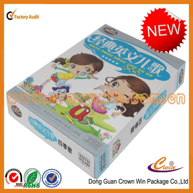 High-end decorative paper CD box,cardboard cd gift boxes