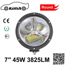 "led work light 45w 7"" round led spotlight in auto lighting system"