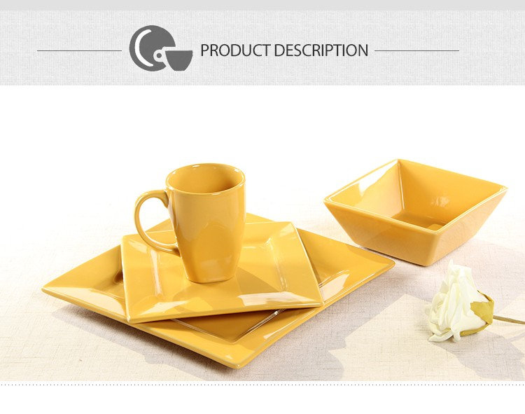 wholesale item name price crockery square ceramic pakistani dinner set