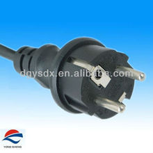 Eu power cord with 16A water-proof schuko plug