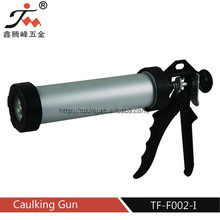Aluminum-barrel type caulking gun/latex body paint