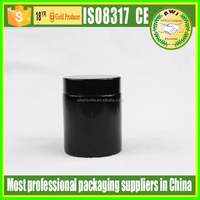 wholesale 100ml amber jar 4oz amber glass jar black lid