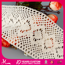 handmade fast delivery for decoration italy lace fabric