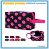 custom handle cosmetic bag dot heart print travel makeup bag
