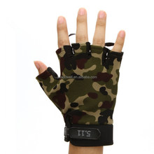 outdoor riding half finger camouflage sports gloves