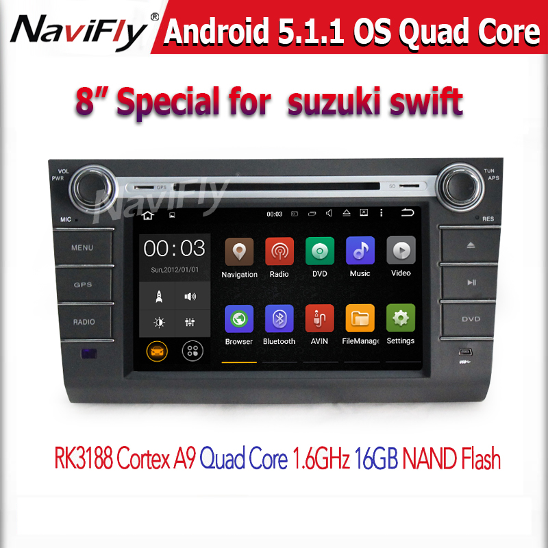 WHOLESALE Android 5.1 Quad core with DVD/DVR/GPS/WIFI/Bluetooth/3G/4G CAR DVD PLAYER for Suzuki Swift 2007