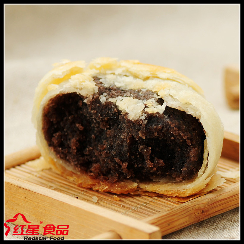 Chinese healthy dim sum good taste baking puff pastry with balck bean flavored