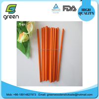 2014 HOT SELLING fancy colorful round wooden craft sticks With Logo