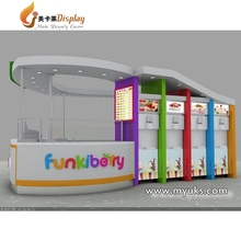 Shopping mall 3d yorurt/ice cream kiosk design fast food kiosk on sale