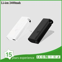 ATE 2400mAh Colourful Power Bank 18650 USB Charger External Battery Pack for mobile phone