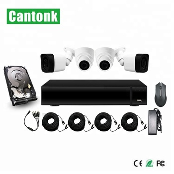 Cantonk Very Cheap Plastic IR Dome & Bullet Camera Vandal-proof 1080P DIY XVR Kits HD Cameras