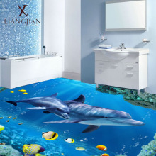 Cheap Artist Bathroom Dolphin Floor Wall 3D Decorative Design Polished Ceramic Tiles