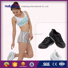 Athletic lady jogging sports shoes