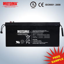 MOTOMA rechargeable deep cycle GEL solar battery 12v 200Ah battery