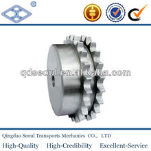 DIN 8187 ISO/R 606 material C45 weld on hub 08b-2 pitch 12.7 roller 8.51 8T douplex roller chain sprocket 1/2*5/6
