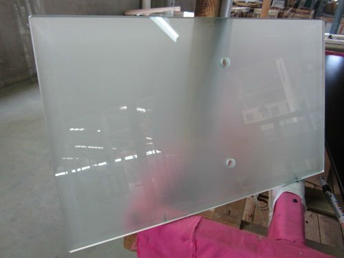 high quality 5mm frosted tempered glass dining table top with EN12150 BS6206 ANSI Z971 CE SGCC