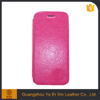 Guangzhou free sample PU leather mobile phone case for iphone 6/6s/7/7 plus cover with TPU case