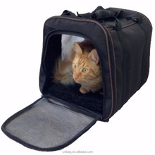 Pet/Dog/Cat Carrier Bag Large Soft Sided Airline Approved For Travel For Cat And Dog Top Loading Foldable For Storage Black