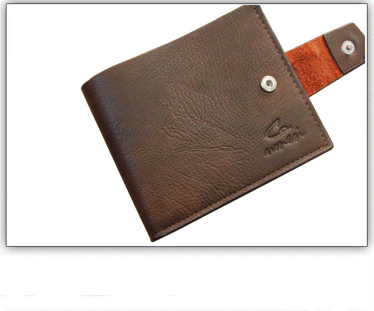 Custom 2015 leather wallet/new type promotion price man purse