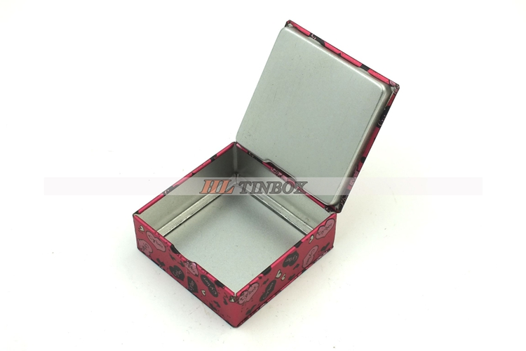 Hinged Lid Mini Square Mint Tin Box