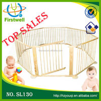 New wooden dog safety gate fence/baby large playpen
