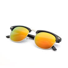 Semi-Rimless Frame Polarized Sunglasses Women Men Sun Glasses