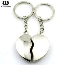 Promotional Romantic Gift Heart Shape Keyring Heart Broken Keychain