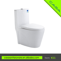 High end floor mounted public siphonic one piece toilet price commode K11