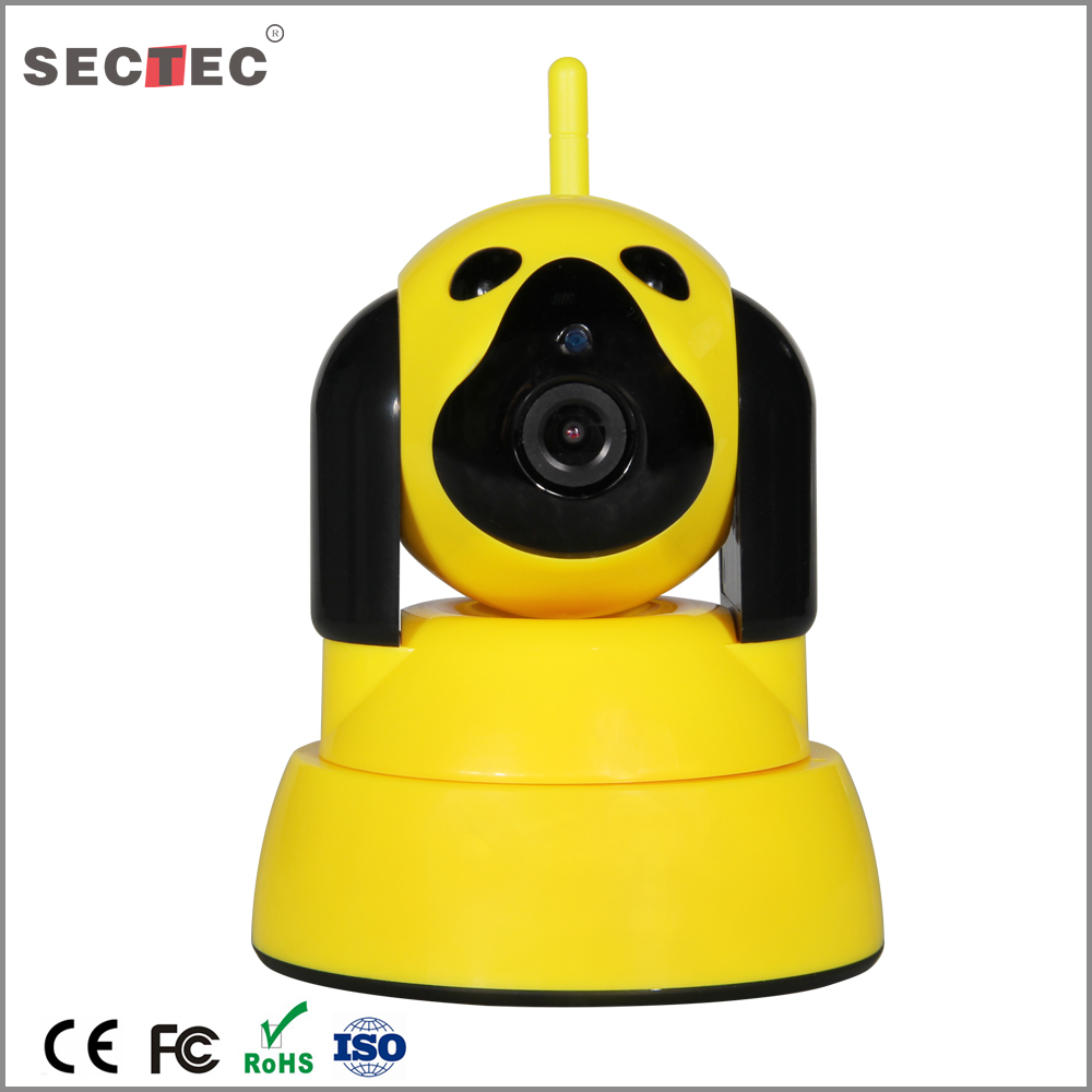 Cute dog p2p WiFi IP Camera Intelligent 720P Motion Detection Wifi Wireless CCTV Camera Baby care Monitor Security Camera
