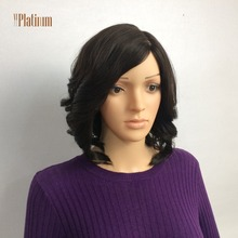 Factory Price Dark Brown Jewish Kosher Certified Mono Top Short Brazilian Hair Wigs