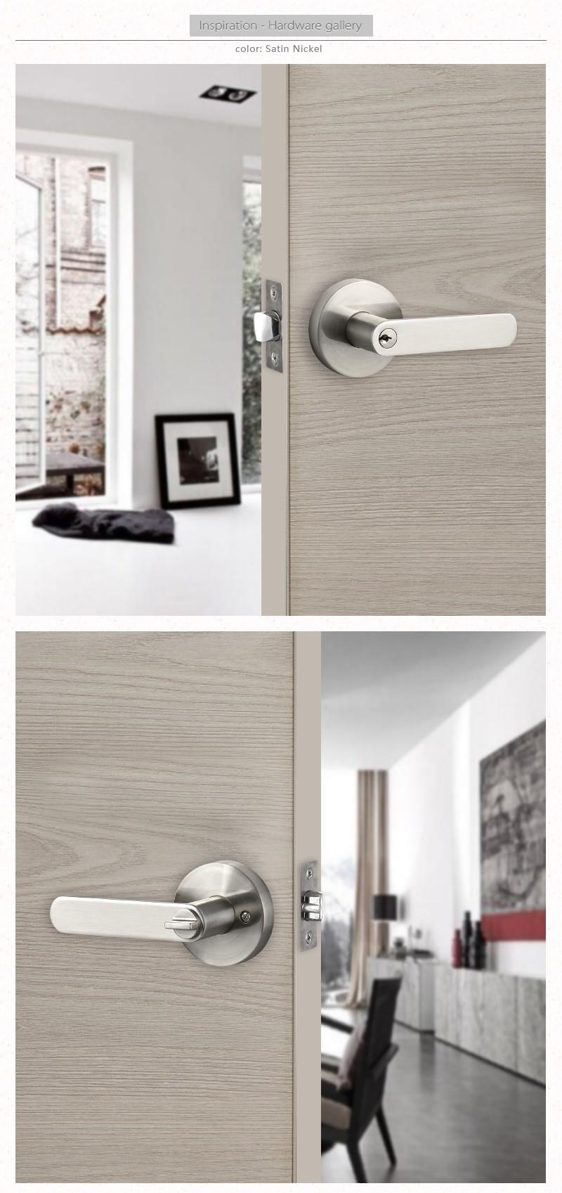 Tubular zinc alloy lever lock door lever lock lever door handle interior door latch types buy - Different types of bedroom door locks ...