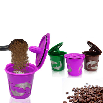 Three Color Dolphin design Reusable K-Cup coffee filters for your Keurig coffee maker