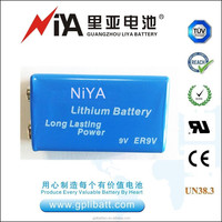 High quality smoke detector battey er9v 10.8V 1200mAh lithium battery
