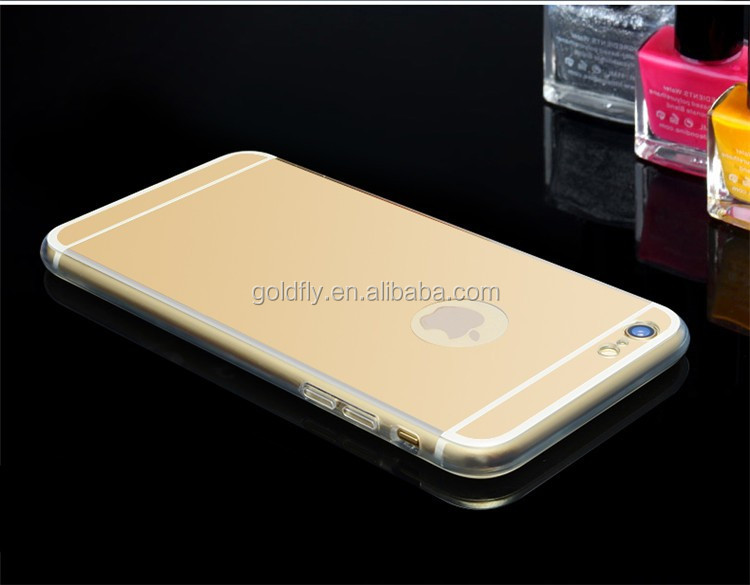 For iPhone 5 5s 6 6s 6 7 Plus 6s 7Plus 6Plus Luxury Mirror TPU Electroplating Soft Silicone Case Protector Shell Cover
