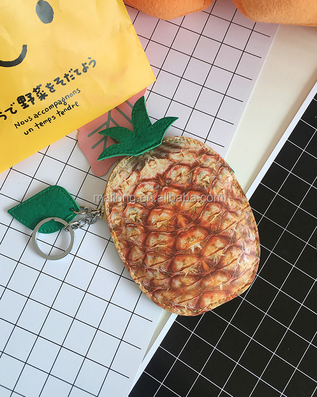 Creative cartoon receive zero wallet pu hand bag cartoon Hamburg cartoon fruit shape small change purse