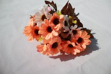 Cheap plastic fake flower daisy,silk flowers artificial daisy wholesale