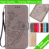For Samsung Galaxy S2 i9100 butterfly printed pattern Leather Case TPU Back Cover Flip Shell Stand Wallet Bag Card Holder