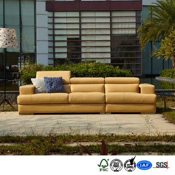 Family semi-aniline cashmere sectional sofa