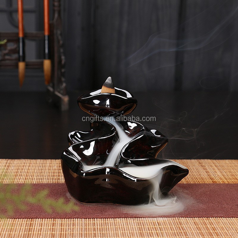 Ywbeyond Ceramic Party Gifts Back flow ceramic censer smoke backflow cone arabic incense holder middle east incense burner