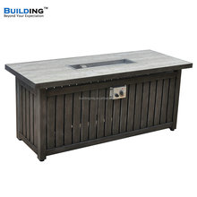 Outdoor Rectangle Gas Fire Table