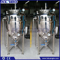 Mirror Polishing 100L Jacketed Fermenter Welded legs